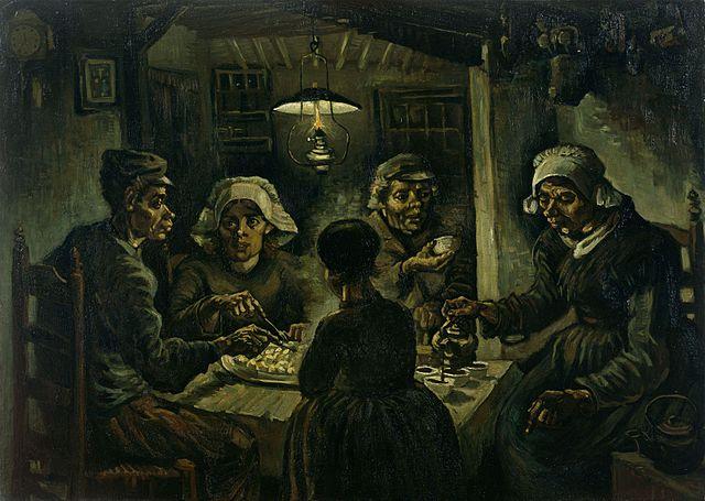 The Potato Eaters by Vincent van Gogh  April 1885