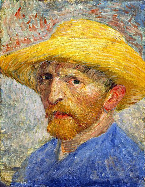 Self Portrait With Straw Hat Paris Summer 1887