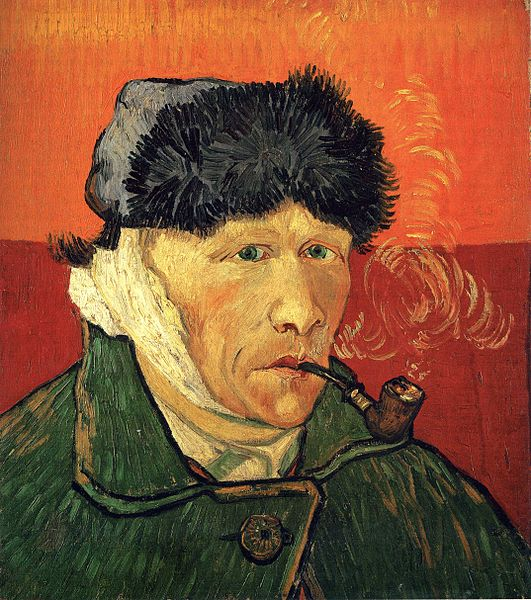 Self-portrait with bandaged ear and pipe (1889)