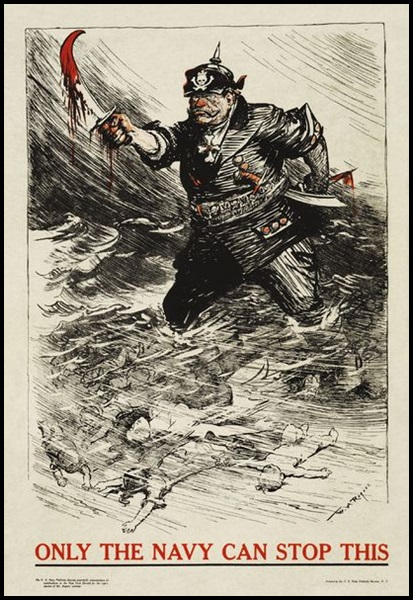 20-William_Allen_Rogers_-_Only_the_Navy_Can_Stop_This_(WWI_U.S._Navy_recruitment_poster)