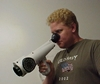 Mr. Jason Davis is demonstrating the use of the nasal ranger field olfactometer cc3.0