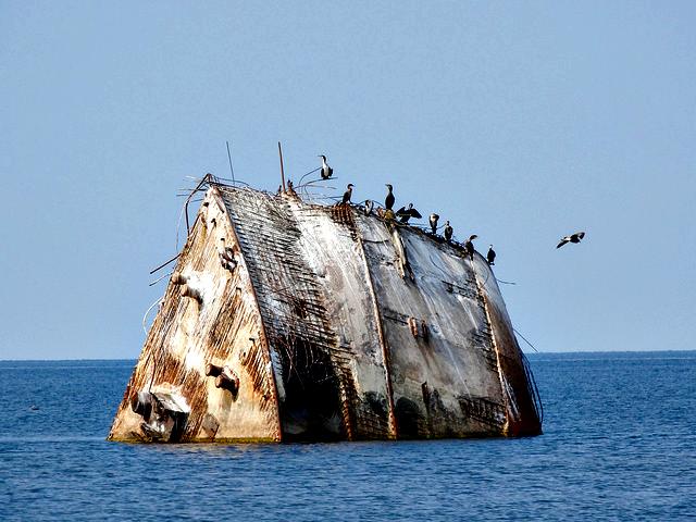 Lady Cotlin Sunk ship