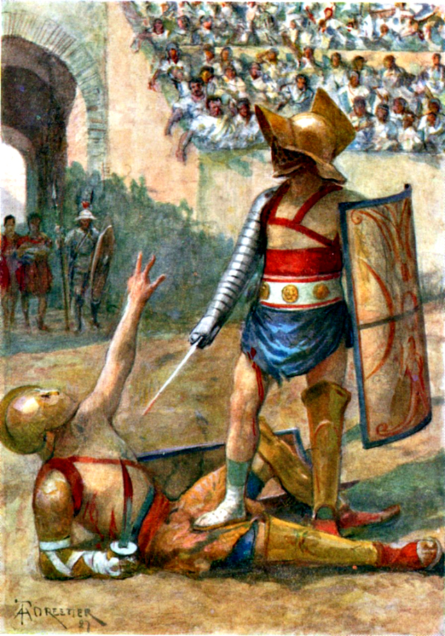Gladiators. The end of the combat