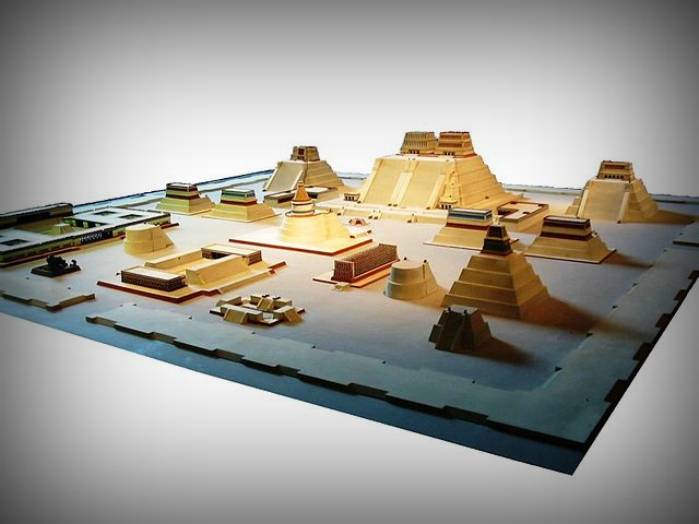 Model of the Aztec City of Tenochtitlan