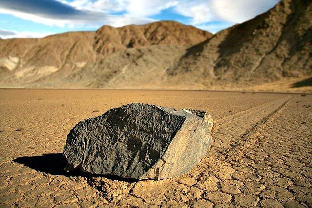 Racing Rock at at Racetrack Playa, Death Valley National Park, CA.