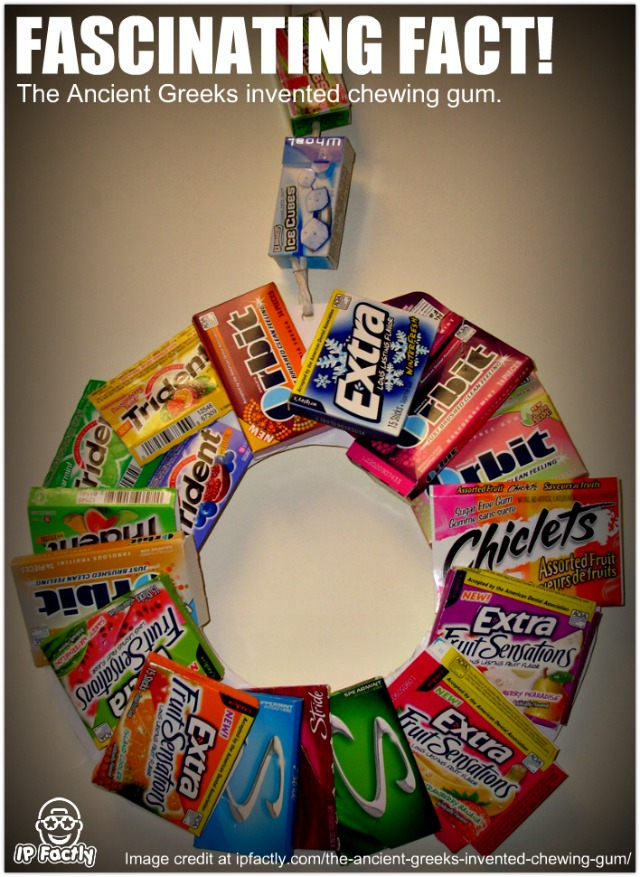 Gum Packet Wreath