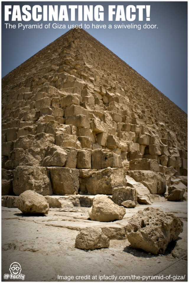 the pyramid of giza used to have a swiveling door fun facts you