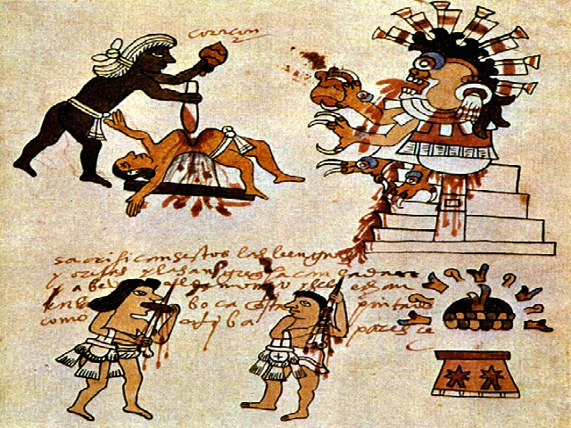 aztecs sacrifices Human sacrifice was a religious practice of the pre-columbian aztec civilization, as well as other mesoamerican civilizations such as the maya and the zapotec the.