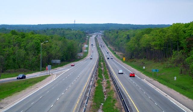 Highway 11 facing south in Orillia, Ontario