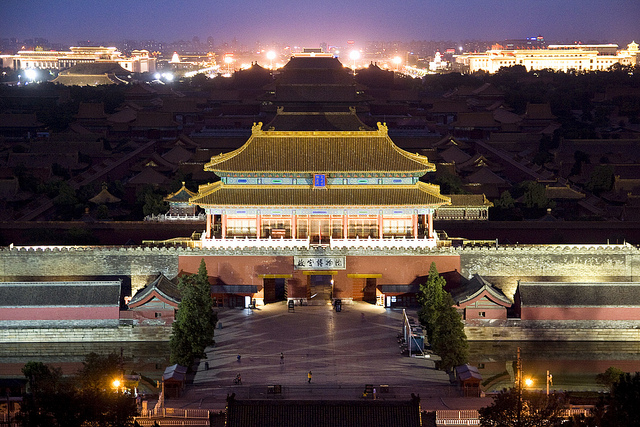 Forbidden City from Jingshan hill, Beijing