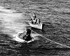 Recovery of Sigma 7 space capsule by USS Kearsarge October 1962