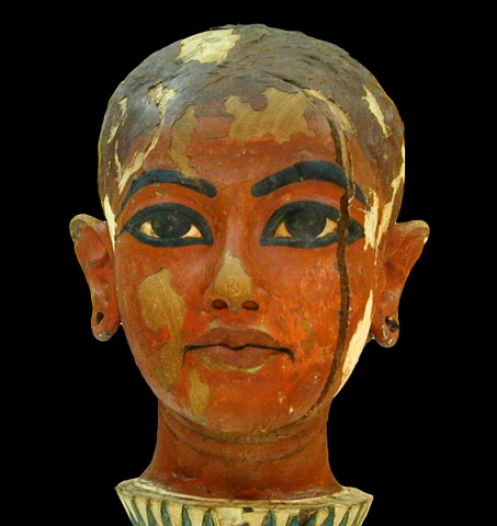 Bust of Tutankhamun found in his tomb, 1922