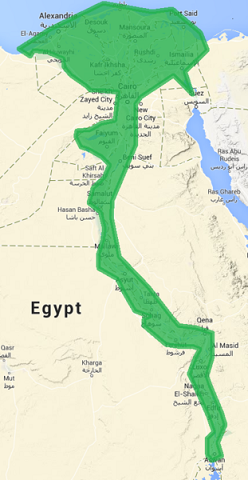 Old Kingdom of Egypt map