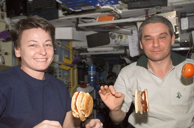 Astronauts Eating Burgers