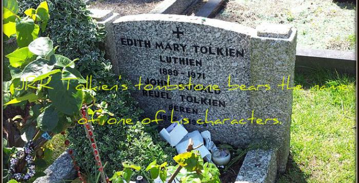 Tolkien's grave, Wolvercote Cemetery