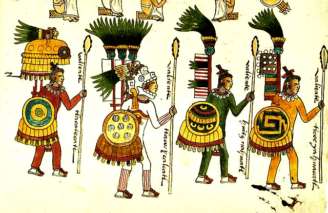 Aztec warriors Codex Mendoza