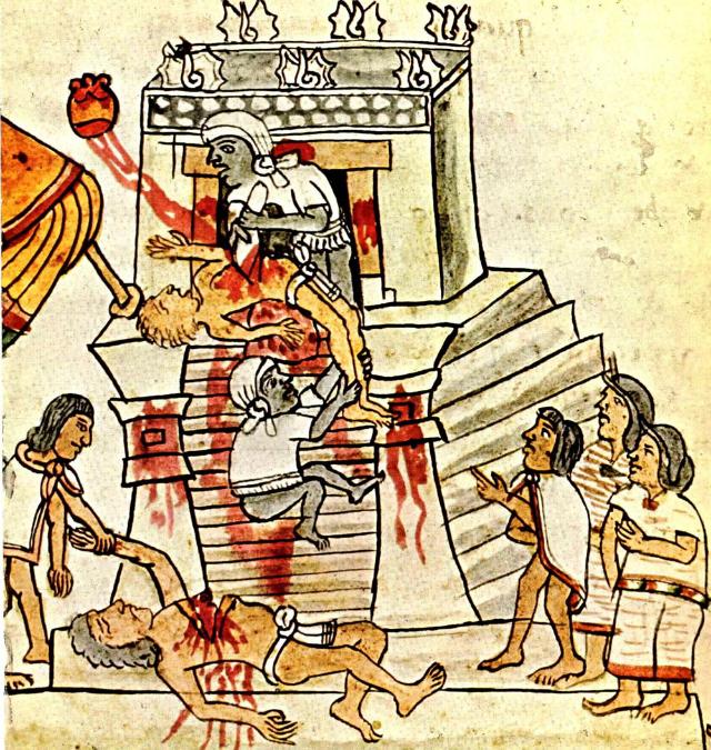 Human sacrifice Codex_Magliabechiano