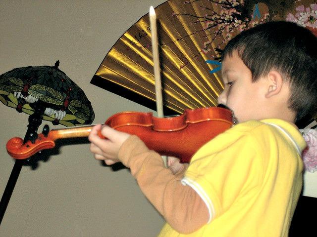 Max's first violin