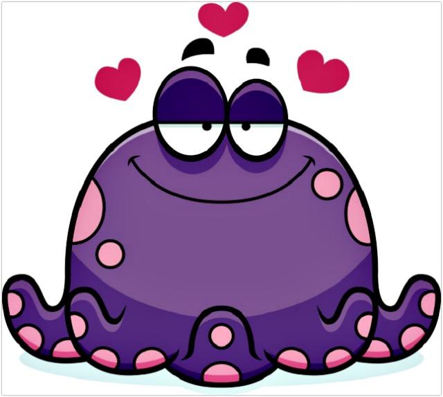 Octopus-3-hearts