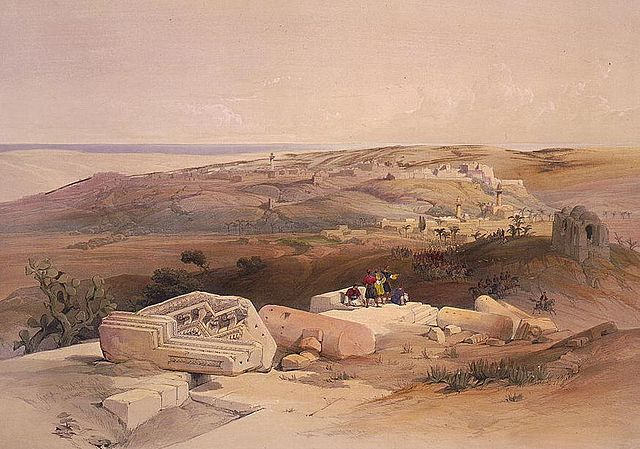 Siege_of_Gaza_painting_-_David_Roberts