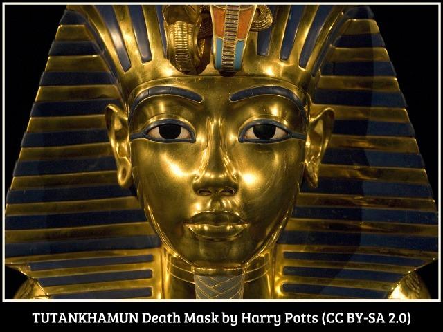 TUTANKHAMUN-Death Mask-(Exhibition-Manchester)