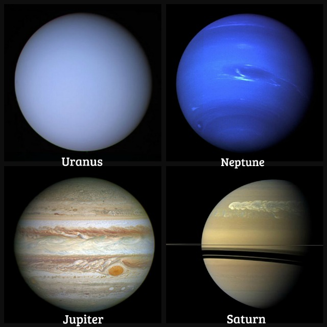 Jupiter Saturn Neptune and Uranus