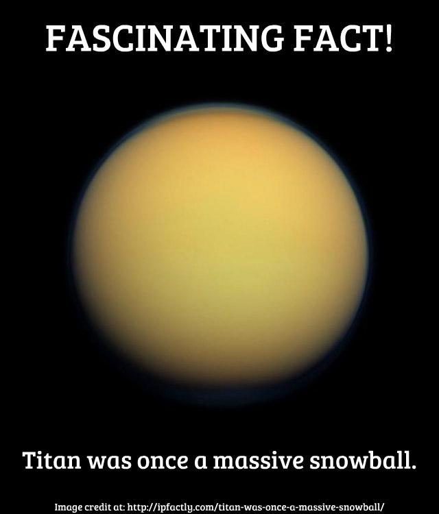 Titan in true color