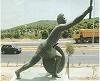 Statue of Pheidippides along the Marathon Road